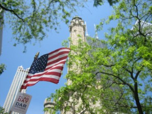 Flag Day on Michigan Avenue