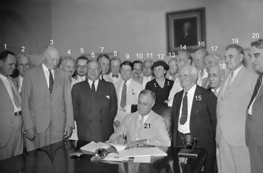 FDR Signs Social Security Act