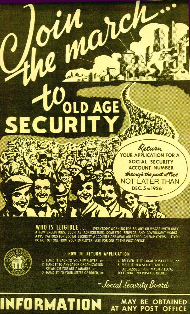 Social Security Poster- 1936